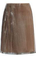 Fendi Silk-lined Woven-sequin Skirt - Lyst