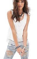 Forever 21 Floral Lace Tank Top - Lyst