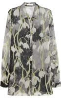 Matthew Williamson Printed Silk-chiffon Shirt - Lyst
