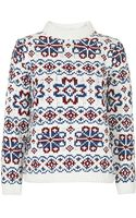 Topshop Fairisle Patterned Jumper by Boutique - Lyst
