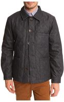Edwin Grind Quilted Denim Jacket - Lyst