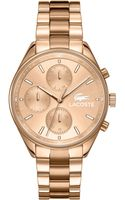 Lacoste Womens Philadelphia Rose Gold Ion-plated Stainless Steel Bracelet Watch 39mm - Lyst