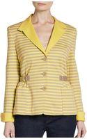 Akris Punto Jersey Stripe Jacket - Lyst