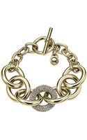 Michael Kors Pavéembellished Chainlink Toggle Bracelet - Lyst