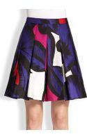 Diane Von Furstenberg Gemma Printed Cottonsilk Skirt - Lyst