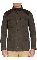 Burberry London Suedetrimmed Tweed Field Anorak - Lyst