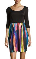 Betsey Johnson Knit Fit-and-flare Dress - Lyst