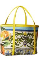 Dolce & Gabbana Graphic Print Canvas Tote - Lyst