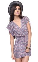 Forever 21 Floral Surplice Tunic - Lyst