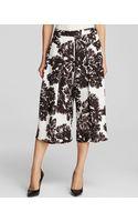 Rebecca Taylor Culottes - Splashy Flower Print Silk - Lyst