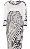 Etro Printed Silk Dress - Lyst