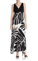 Karen Kane Printed Jersey Maxi Dress - Lyst