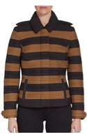 Burberry Prorsum Cropped Ribbed Jacket - Lyst