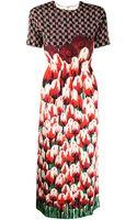 Mother Of Pearl Irveta Silk Flower Dress - Lyst