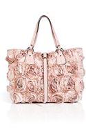 Valentino Satin Rose Embellished Tote - Lyst