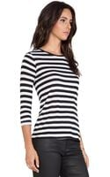 Textile Elizabeth And James Marly Stripe Tee - Lyst
