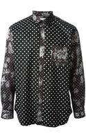 Comme Des Garçons Contrasting Prints Shirt - Lyst
