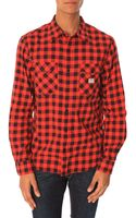 Denim & Supply Ralph Lauren Black and Red Plaid Shirt - Lyst