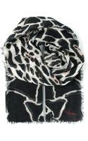Roberto Cavalli Leopard and Giraffe Print Scarf - Lyst