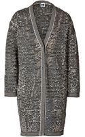 M Missoni Metallic Patterned Knit Cardigan - Lyst