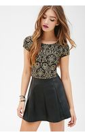 Forever 21 Baroque Print Crop Top - Lyst