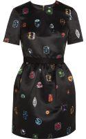Markus Lupfer Vivian Printed Satin Mini Dress - Lyst