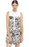 Ya Los Angeles Floral Print Sleeveless Dress - Lyst