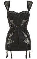 Bordelle Lace Spandex Straps Bustier Dress - Lyst