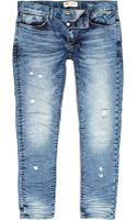 River Island Light Wash Ripped Sid Skinny Stretch Jeans - Lyst
