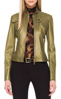 Michael Kors Quiltedpanel Leather Jacket - Lyst