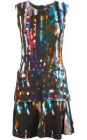 McQ by Alexander McQueen City Lights Print Flared Dress - Lyst
