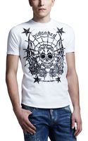 DSquared2 Skull Stars Graphic Tee - Lyst