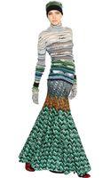 Missoni Wool Blend Lurex Knit Turtleneck Sweater - Lyst