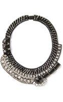 Barbara Bui Crystal Embellished Necklace - Lyst