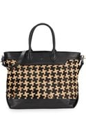 Ash Leather  Printed Calf Hair Tote - Lyst