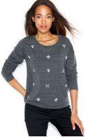 Maison Jules Embellished Crewneck Sweatshirt - Lyst