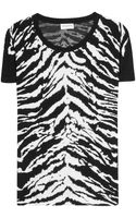 Saint Laurent Printed Tshirt - Lyst