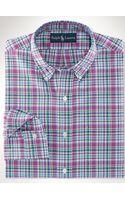Polo Ralph Lauren Custom-fit Plaid Oxford Shirt - Lyst