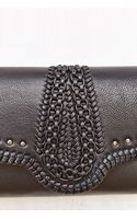 Pins And Needles Embellished Leather Clutch - Lyst