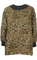 Dolce & Gabbana Embossed Flower Top - Lyst