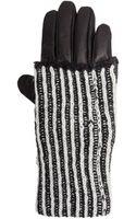 Y-3 Leather Mohair Glove Blackwhite - Lyst