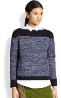 Marc By Marc Jacobs Julie Ribbed Wool Cashmere Colorblock Sweater - Lyst