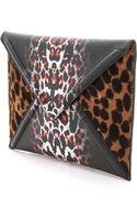 McQ by Alexander McQueen Haircalf Envelope Clutch White Leopard - Lyst