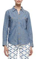 Etoile Isabel Marant Waller Denim Button Down Shirt - Lyst