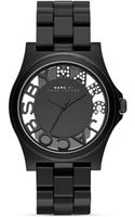 Marc By Marc Jacobs Rivera Skeleton Black Watch 41mm - Lyst