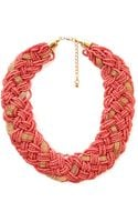 Forever 21 Braided Bead Chain Collar - Lyst