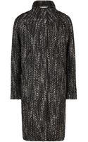 Sandwich Tweed Coat - Lyst