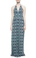 Tory Burch Laguna Printed Halter Maxi Dress - Lyst