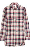 Etoile Isabel Marant Upton Plaid Linenblend Shirt - Lyst