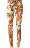 Gucci Floral Print Trouser - Lyst